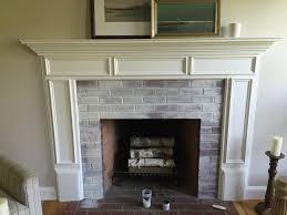 outdoor painting brick fireplace whitewash