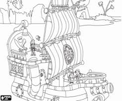 jake neverland pirates captain hook coloring pages