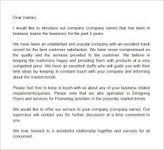 best solutions of company introduction letter template free for