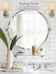 pottery barn round bathroom mirror best bathroom decoration