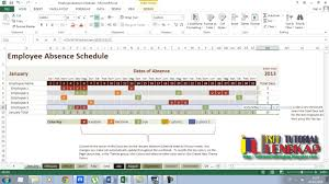 Tracking Employee Training Spreadsheet Employee Absence Schedule Tutorial Excel 2013 Youtube