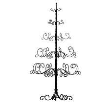 7 foot wrought iron tree patch magic black ornament