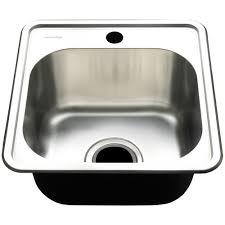 Square Edge Deep Single Bowl Kitchen Sink With Waste Basket - Square kitchen sink
