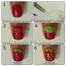 polish pals strawberry nail art tutorial diy nails pinterest
