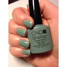 cnd creative nail design shellac power polish sage scarf cnd