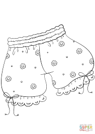 vintage underwear coloring page free printable coloring pages