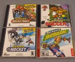 Backyard Basketball Pc by Backyard Sports Cd Rom Lot Of 4 Pc Video Games Soccer Hockey