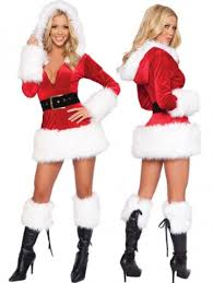 santa costumes trim velvet hooded santa costume mrs santa costumes