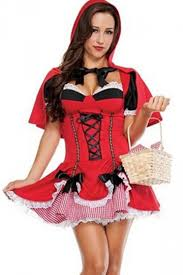 red ladies little red riding hood fairytale costume pink queen