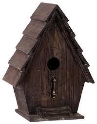 modern charming wooden bird house metal bird stand home decor