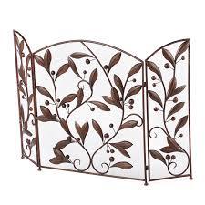 aspire 3 panel metal leaves fireplace room divider u0026 reviews wayfair