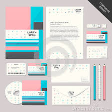 Office Set Design Abstract Corporate Identity Set Graphic Design