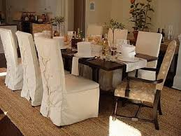 Dining Room Chair Slipcovers Sure Fit Duck Solid Shorty Dining - Dining room chair slipcover patterns