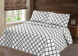 geometric pattern bedding gorgeoushome lancaster white black quilt geometric pattern
