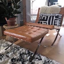 Barcelona Chair Premium Cognac Barcelonachairshop En