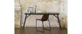 bureau console bois bureau design console bois et métal noir groov miliboo
