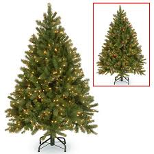 4 foot white christmas tree with colored lights 4 5 foot downswept douglas fir tree with dual color led lights