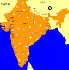 Where Is India On The Map by India Thinglink