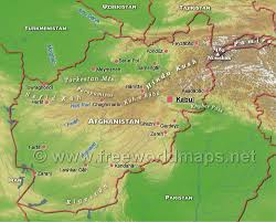 Kabul Map Afghanistan Physical Map