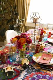 how justina blakeney sets a festive bohemian holiday table photos