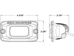 rigid industries backup light kit sr m series pro diffused backup kit flush white rigid industries