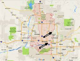 Map Of Phoenix by Scottsdale Escape