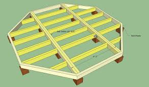 Hexagon House Plans by Octagon Deck Building Plans Wood Working Pinterest Deck
