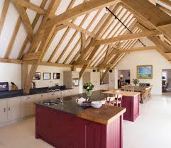 barn conversion ideas kitchen farmhouse with exposed beams
