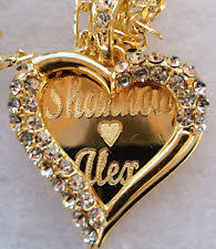 custom gold name necklace diamond name necklace ebay