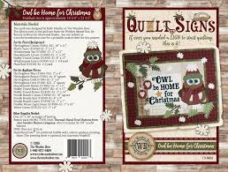 q02 quilt signs owl be home for