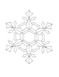 snowflake colouring pages for kids