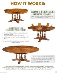 Jupe Dining Table Walnut Jupe Dining Table Ex Large 8 Diameter Converts To