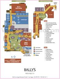 Las Vegas Strip Casino Map by Bally U0027s Property Map Casino And Hotel Layout
