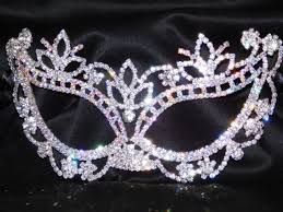 silver masquerade masks silver ab rhinestone masquerade mask mardi gras party w