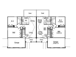duplex floor plans for narrow lots brooktree duplex home plan 007d 0019 house plans and more
