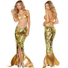 Mermaid Costume Halloween Aliexpress Buy Golden Goddess Mermaid Costume Sea Siren
