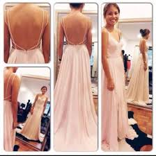 wedding evening dress custom simple backless prom dress v neck blush pink slit prom
