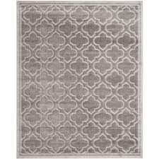 Safavieh Outdoor Rug Safavieh Amherst Gray Light Gray 11 Ft X 16 Ft Indoor Outdoor