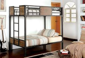 Furniture Of America CMBKTT Clapton Transitional Black Twin - Furniture of america bunk beds