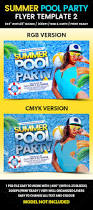 summer pool party flyer template 2 flyers print templates