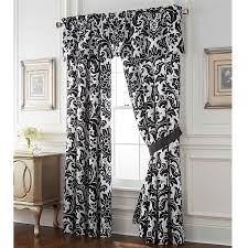 Linen Sheer Curtains Bed Bath And Beyond by Amazon Com Rose Tree Symphony Window Curtain Panel Pair Black