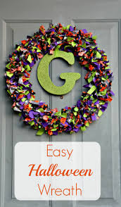 diy halloween rag wreath