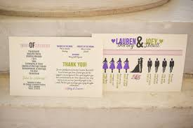 what goes on a wedding program our wedding the ceremony as