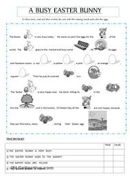 easter rebus story free classroom printable first or second