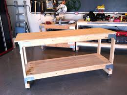 rolling work table plans odjo how to build a rolling workbench