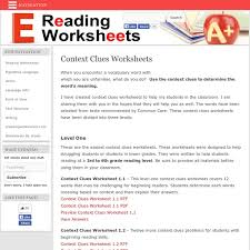 all worksheets vocabulary context clues worksheets printable