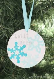 clay snowflake ornament lovely etc