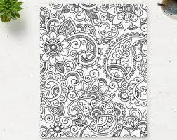 printable coloring page paisley pattern printable