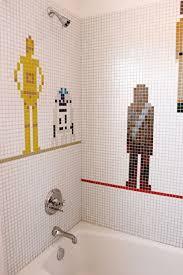Kids Bathroom Tile Ideas Colors Star Wars Bathroom Tiles For A Kids Bathroom Shelterness