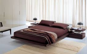 Cool Platform Bed Bedroom Appealing Design Wooden Dark Modern Platform Beds Added